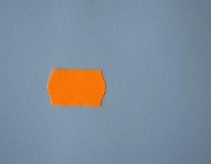 etiqueta precios 26x16 naranja