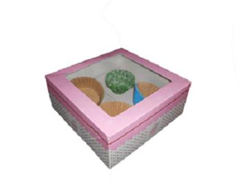 cajas cupcakes 4 unidades