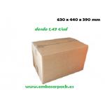 caja cartón 630x440x390 marrón