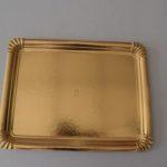 bandejas de cartón oro