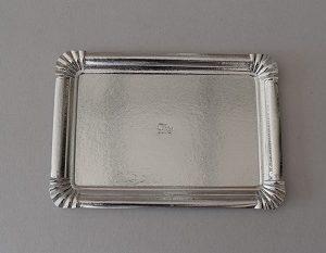bandeja cartón plata