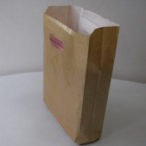 bolsa papel asa riñón oro