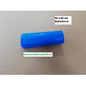 bolsas basura azul autocierre