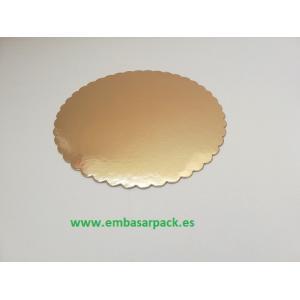 disco de cartón en oro